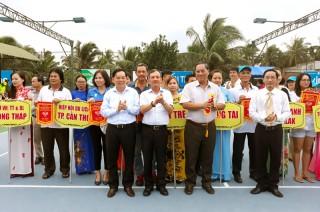 Khai mạc Giải quần vợt ngành du lịch Việt Nam lần thứ XXIII - Bến Tre năm 2018