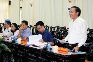 Đoàn công tác Bộ Kế hoạch và Đầu tư làm việc tại tỉnh
