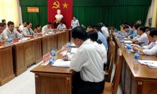 Đoàn công tác của Ban Tổ chức Trung ương khảo sát tại huyện Châu Thành