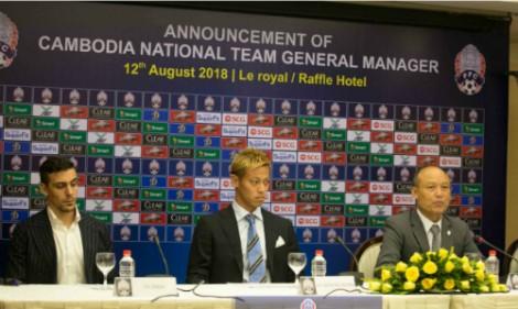 Keisuke Honda làm HLV đội tuyển Campuchia