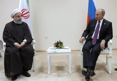 Lãnh đạo Nga - Iran hội đàm song phương bên lề Hội nghị Biển Caspian