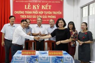 Ban Tuyên giáo Tỉnh ủy và Báo Sài Gòn Giải Phóng ký kết kế hoạch phối hợp tuyên truyền