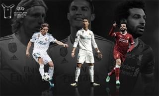 Ronaldo, Modric, Salah vào 3 đề cử Cầu thủ hay nhất châu Âu