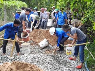 Chiến dịch Thanh niên tình nguyện hè tỉnh Bến Tre năm 2018: Ðạt và vượt 10 chỉ tiêu trọng tâm