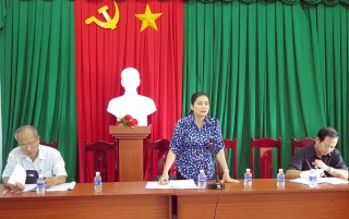 HĐND tỉnh giám sát Đề án sinh kế tại huyện Giồng Trôm