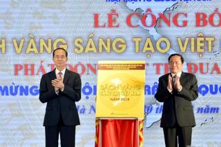 Chủ tịch nước dự Lễ công bố Sách vàng Sáng tạo Việt Nam 2018