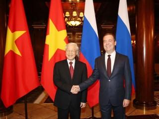 Tổng Bí thư Nguyễn Phú Trọng hội kiến với Thủ tướng Liên bang Nga