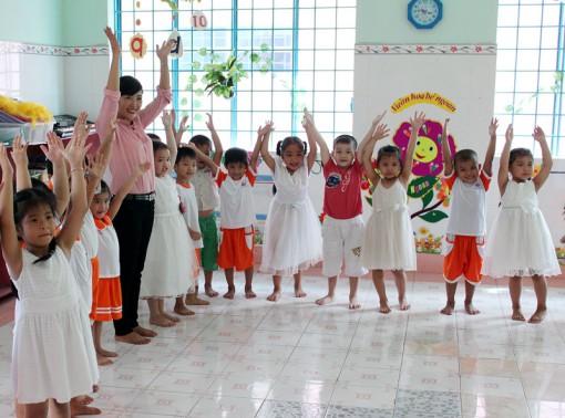 Trường Mầm non Thị Trấn Chợ Lách: Xây dựng môi trường giáo dục lấy trẻ làm trung tâm