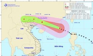 Bão số 6 gây mưa to ở khu vực Đông Bắc