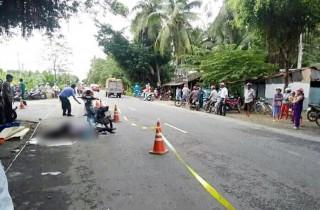 Xe mô tô tông xe tải, một người chết thảm