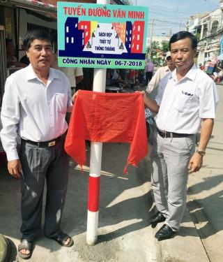 Đường Vĩnh Phú, thị trấn Ba Tri đạt chuẩn văn minh