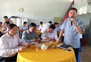 Bí thư Tỉnh ủy Võ Thành Hạo gặp gỡ Tổ hội nghề nghiệp mai vàng ấp Phú Hội
