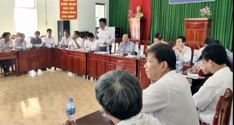 Kiểm tra kết quả xây dựng nông thôn mới xã Châu Hòa