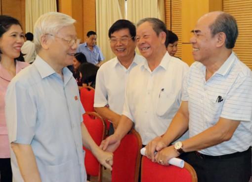 Cử tri quận Hoàn Kiếm, Ba Đình bày tỏ nhất trí cao giới thiệu Tổng Bí thư để bầu Chủ tịch nước