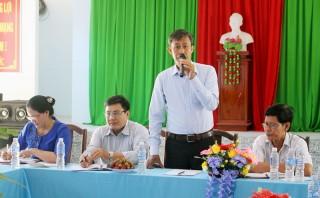Ủy ban Trung ương MTTQ Việt Nam khảo sát tại huyện Mỏ Cày Bắc