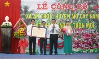 Công nhận An Thới đạt chuẩn xã nông thôn mới
