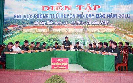 Huyện Mỏ Cày Bắc tổ chức diễn tập khu vực phòng thủ năm 2018