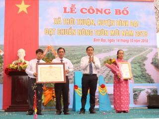 Thới Thuận đạt chuẩn xã nông thôn mới