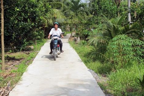 Xã Phong Mỹ đầu tư hơn 2,1 tỷ đồng xây dựng lộ nông thôn