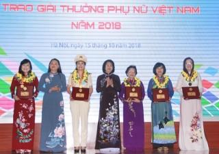 Vinh danh 15 tập thể, cá nhân nhận Giải thưởng Phụ nữ Việt Nam 2018