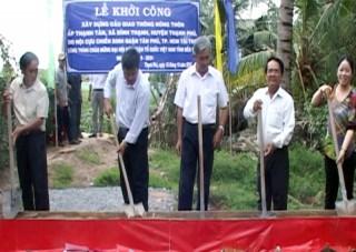 Khởi công xây dựng cầu Thạnh Tân, xã Bình Thạnh