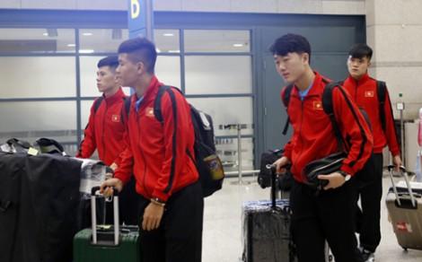 Tuyển Việt Nam tới địa điểm tập huấn tại Hàn Quốc