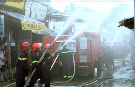 Thực tập phương án phòng cháy, chữa cháy chợ Cái Mít