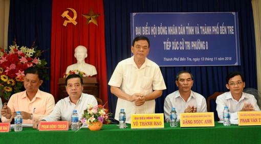 Ðại biểu HÐND tỉnh tiếp xúc cử tri trước Kỳ họp lần thứ 9, khóa IX
