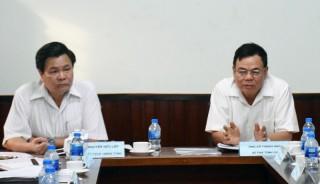 Đoàn khảo sát của Tỉnh ủy làm việc với các sở