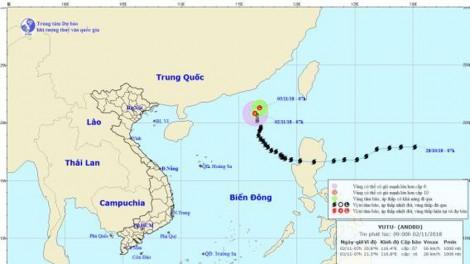 Dự báo áp thấp nhiệt đới trên khu vực Nam Biển Đông