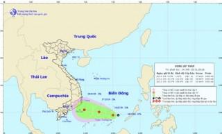 Áp thấp trên khu vực Nam Biển Đông