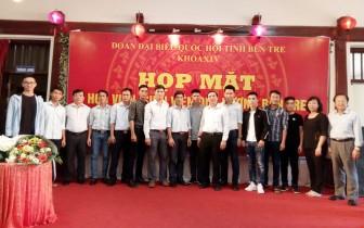 Đoàn đại biểu Quốc hội tỉnh họp mặt sinh viên Bến Tre đang học tập tại Hà Nội