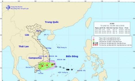 Áp thấp nhiệt đới mạnh lên thành bão số 8 và đã suy yếu
