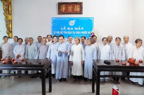 Ra mắt Tổ phụ nữ tôn giáo tại chùa Phước Hòa, xã Tân Lợi Thạnh