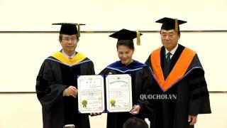 Chủ tịch Quốc hội nhận bằng Tiến sĩ danh dự Trường Đại học Quốc gia Pukyong