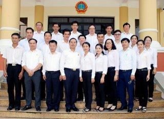 Tòa án nhân dân tối cao kiểm tra công tác chuyên môn tòa án tỉnh và  các huyện