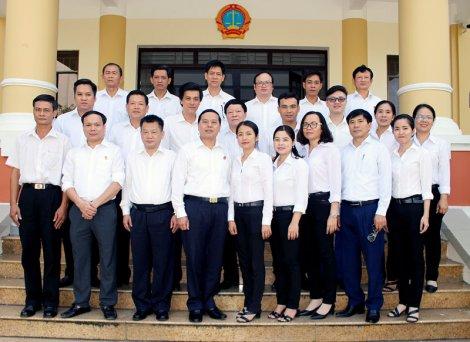 Tòa án nhân dân tối cao kiểm tra công tác chuyên môn tại tỉnh