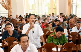 Đại biểu HĐND tỉnh tiếp xúc cử tri sau Kỳ họp thứ 9