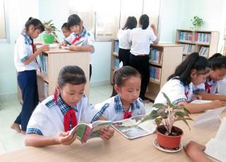 Thư viện mở Trường THCS Vĩnh Thành: Sân chơi bổ ích cho học sinh
