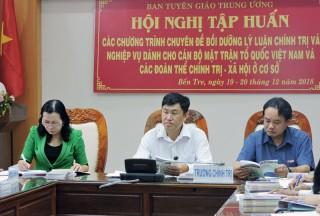 Tập huấn nghiệp vụ cán bộ MTTQ Việt Nam và đoàn thể