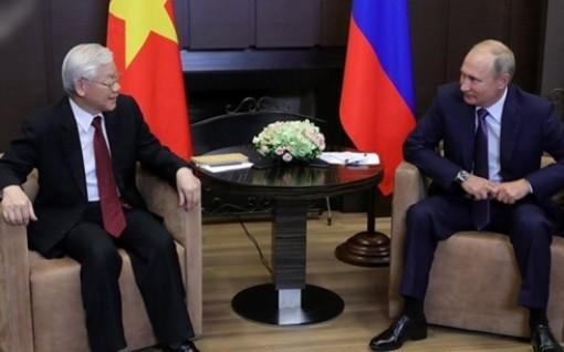 Tổng thống Nga chúc mừng Chủ tịch nước Việt Nam nhân dịp năm mới 2019
