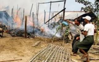 Hỏa hoạn thiêu trụi hơn 160 ngôi nhà ở Myanmar