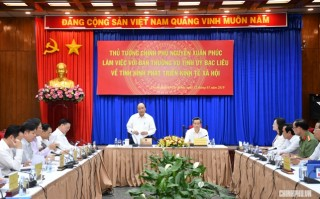 Thủ tướng làm việc với Ban thường vụ Tỉnh ủy Bạc Liêu