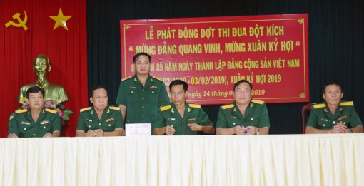 Bộ Chỉ huy Quân sự tỉnh phát động đợt thi đua đột kích mừng Đảng, mừng xuân