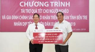 Agribank Chi nhánh tỉnh tài trợ 500 triệu đồng quà Tết cho người nghèo