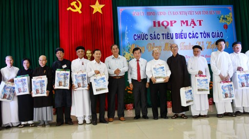 Họp mặt chức sắc tiêu biểu các tôn giáo mừng Đảng, mừng xuân Kỷ Hợi 2019