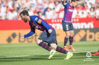 Vòng 25 La Liga: Messi lập hat-trick, Barcelona  thắng Sevilla: 4-2