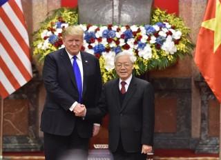 Tổng Bí thư, Chủ tịch nước Nguyễn Phú Trọng tiếp Tổng thống Donald Trump