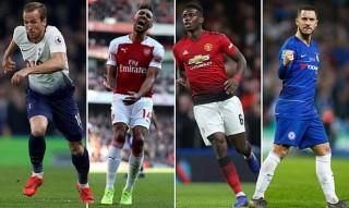 Cuộc đua tóp 4: Arsenal, Chelsea,  MU  và Tottenham