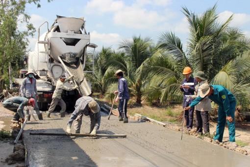 Giao Hòa hoàn thành đường bê tông 1,4 tỷ đồng